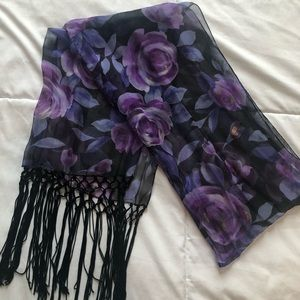 1990s vintage neck scarf. Long and lightweight